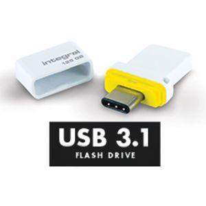 Integral Memory Clé USB-C + USB 3.1 Fusion Dual 16GB