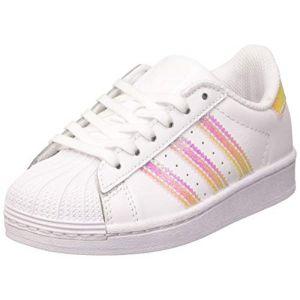 Adidas Superstar C, Chaussure de Gymnastique Mixte Enfant, FTWR Blanc/FTWR Blanc/FTWR Blanc, 35 EU