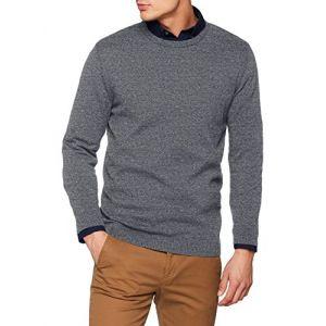Jack & Jones Chandails Jack---jones Essential Basic Knitted - Navy Blazer Twisted Jet Stream - L