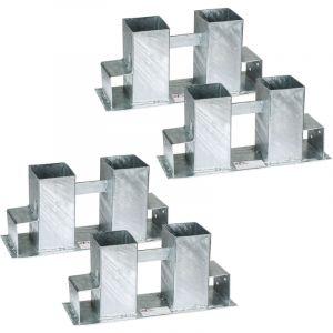 TecTake Range Bûche, Serre Bûche Ajustable, 4 Supports pour Empiler du Bois de Chauffage, de Cheminée en Acier 34 cm x 10 cm x 15 cm