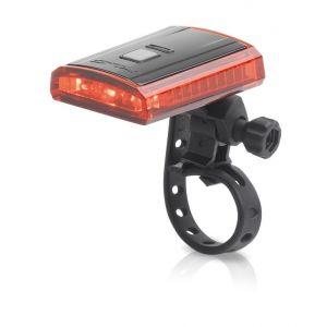XLC Éclairage arrière Comp Titania 3 LEDs CL-R16 USB Rouge