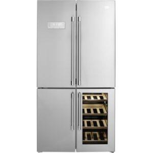 Beko GN1416220CX - Réfrigérateur multi portes avec cave à vin