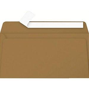 Pollen 29005C - Enveloppe 110x220, 135 g/m², Kraft naturel, en paquet cellophané de 20