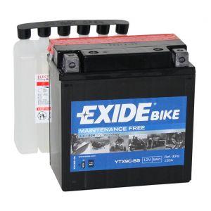 Exide Batterie moto YTX9C-BS 12v 9ah 120A