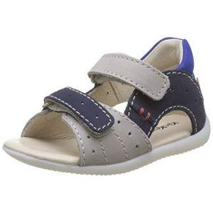 Kickers - Sandales et nu-pieds BOPING-2 gris pour Enfant garcon en Cuir nubuck taille : 22, 24, 25, 26