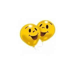 10 ballons Smiley (25 cm)
