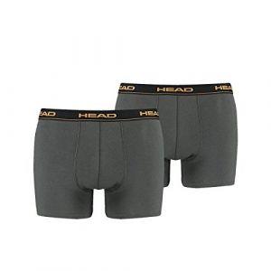 Head Lot de 2 boxers basiques pour homme S Gris - Grey (Dark Shadow)