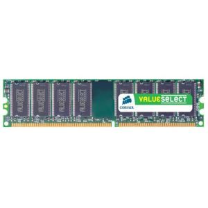 Corsair VS1GB333 - Barrette mémoire Value Select 1 Go DDR 333 MHz CL2.5 184 broches