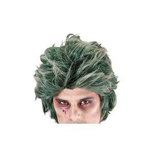 Widmann Perruque Zombie Verte pour Hommes, Vert,