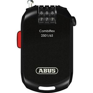Abus Combiflex 2501 Câble-antivol vélo Noir 65 cm