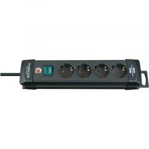 Brennenstuhl Premium-Line 4 prises noir 1,8 m H05VV-F 3G1,5