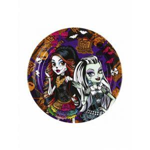 8 petites assiettes Monster High (18 cm)
