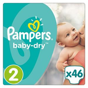 Pampers Baby Dry taille 2 (3-6 kg) - 46 couches