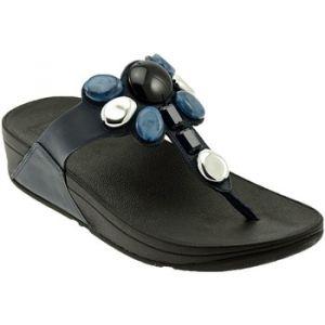 FitFlop Honeybee TM Jewelled Toe Thong Sandals, Tongs Femme, Bleu (Midnight Navy 399), 41 EU