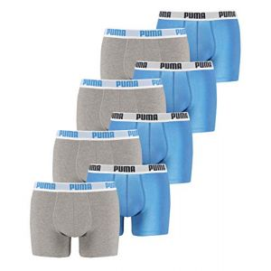 Puma Basic Boxer 2 Pack - Blue / Grey - Taille M