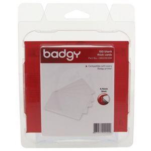 Evolis Badgy 100 cartes blanches vierges épaisses - CBGC0030W