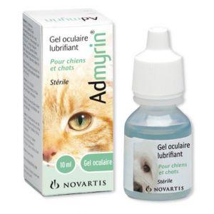 Novartis Admyrin gel oculaire lubrifiant pour chiens et chats 10 ml