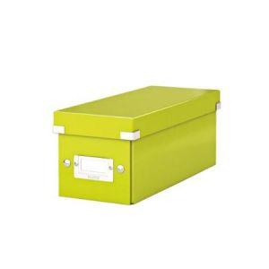 Leitz 6041-00-64 - Boîte de rangement Click & Store, format CD, en PP, coloris vert métallique