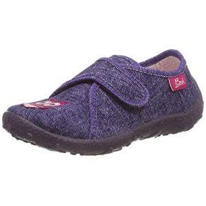 Beck Eule, Chaussons Bas Fille Violet (violet 13) 24 EU