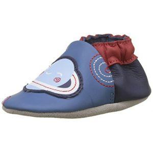 Robeez Planet, Chaussures de Naissance Mixte bébé, (Bleu Denim 53), 17/18 EU