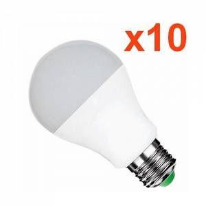 Silamp Ampoule LED E27 12W 220V A60 180 (Pack de 10) - couleur eclairage : Blanc Chaud 2300K - 3500K