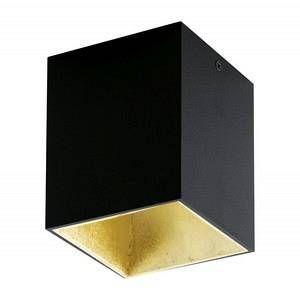 Eglo Plafonnier POLASSO LED Noir, Or, 1 lumière