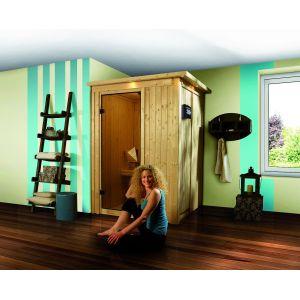 Karibu Lenja 2 - Sauna avec poêle 3.6 kW externe Plug & Play