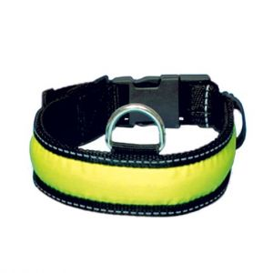 Trixie Colliers pour Chiens Collier Flash, M-L, 40-55 cm,35 mm, Noir/jaune