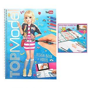 Kontiki Top Model - Album coloriage et création - Design book + Vidéos Jenny