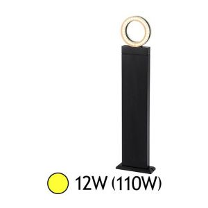 Vision-El Potelet diffuseur rond LED 12W (110W) IP54 Blanc chaud 3000°K Anthracite