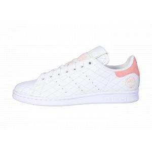 Adidas Stan Smith W, Basket Femme, FTWR White/FTWR White/Glory Pink, 36 2/3 EU