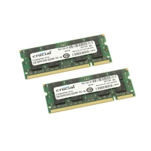 Crucial CT2KIT25664AC800 - Barrettes mémoire 2 x 2 Go DDR2 800 MHz 200 broches