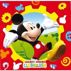 20 serviettes en papier Mickey Mouse