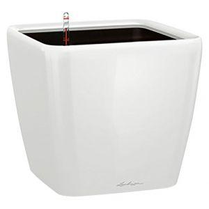 Lechuza Pot à réserve d'eau Quadro Blanc L.21x21 x H.20 cm