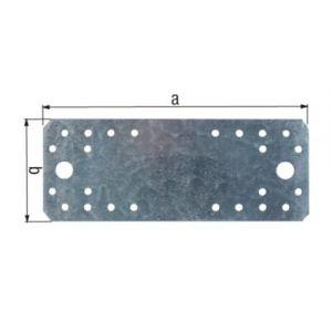 Alberts 330002 - Platine d'assemblage galvanisée 35 x 100 mm