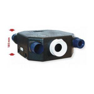 Unelvent Kit VMC simple flux autoréglable Deco Flat 2K - 35 W - 4 sanitaires