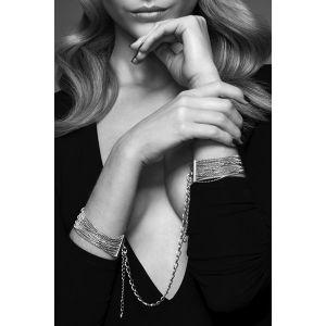 Bijoux indiscrets Menottes bracelets en chaînettes métalliques argentées