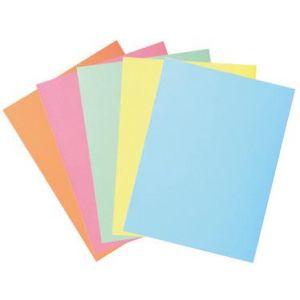 Exacompta 332000E - Paquet de 50 chemises SUPER 250 2 rabats, coloris assortis 5 teintes