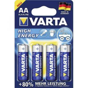 Varta 4 piles alcalines High Energy AA LR6 1,5V 2600mAh
