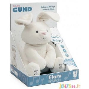 Gund Flora le lapin animé - Peluche interactive