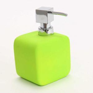 Distributeur de savon design carré Rubber