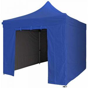 Greaden Tente pliante bleu marine 3x3m SUPER Robuste Tube 40mm en aluminium Bâche 300g/m2 étanche Barnum pliante + Sac de transport