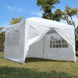 Outsunny Barnum tente de réception 3 x 3 x 2,55 m avec fenêtres
