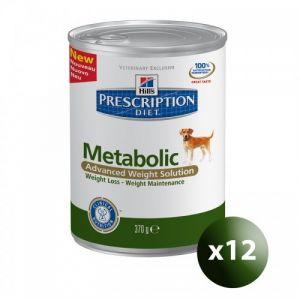 Hill's Prescription Diet Metabolic canine - 12 boîte 370 g
