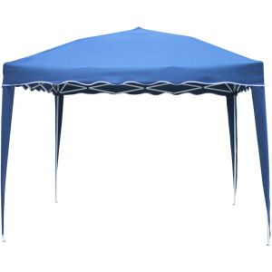 Happy Garden Tente de réception bleu pliante Zephyr 3 x 3 m