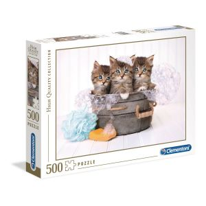 Clementoni Puzzle High quality 500 pièces - Kittens and soap