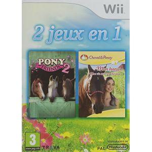 2 jeux en 1 : Pony Friends 2 + Mon Haras, Une Vie Avec Les Chevaux sur Wii