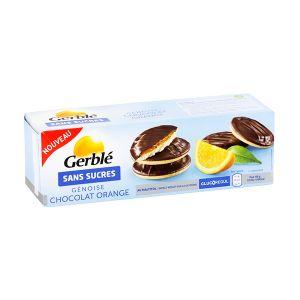 Gerblé Genoise chocolat orange sans sucre - Le paquet de 140g