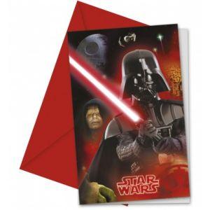 6 cartes invitations Star Wars