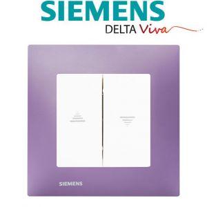 Siemens Interrupteur Volet Roulant Blanc Delta Viva + Plaque Violet